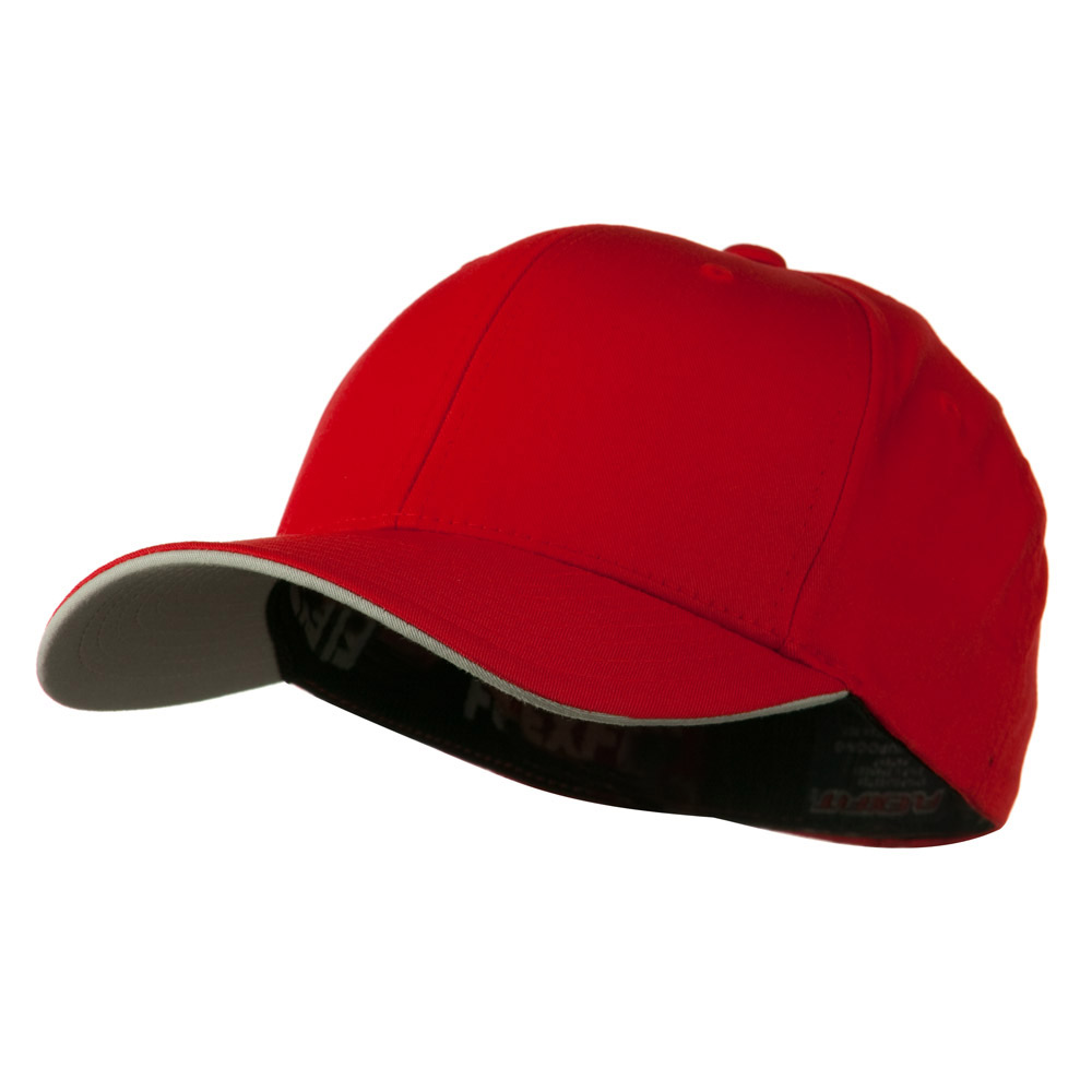 Flexfit Cool and Dry Transvisor Cap - Red Silver - Hats and Caps Online Shop - Hip Head Gear