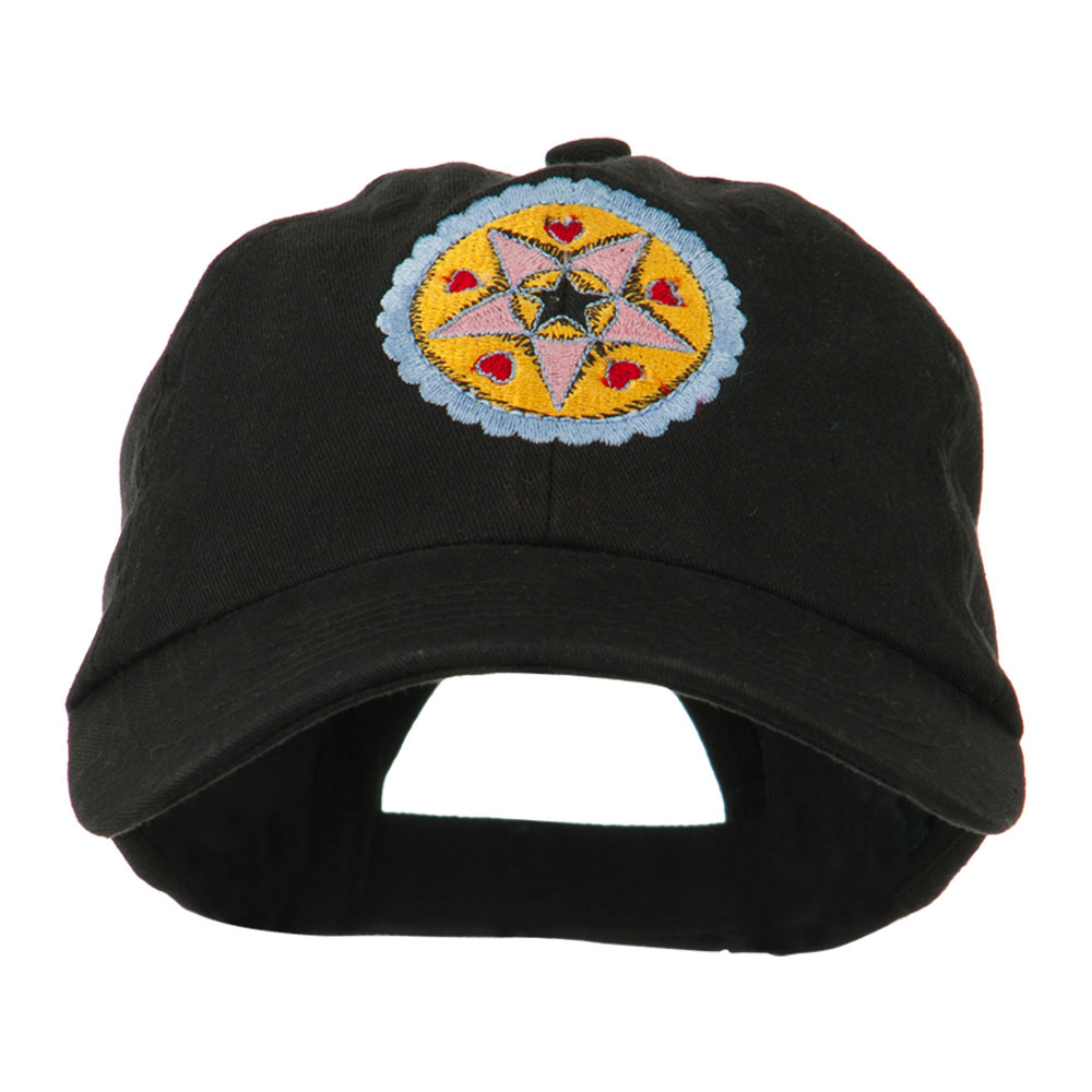 Dutch Motif Embroidered Cap - Black - Hats and Caps Online Shop - Hip Head Gear