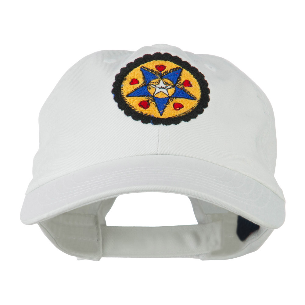 Dutch Motif Embroidered Cap - White - Hats and Caps Online Shop - Hip Head Gear