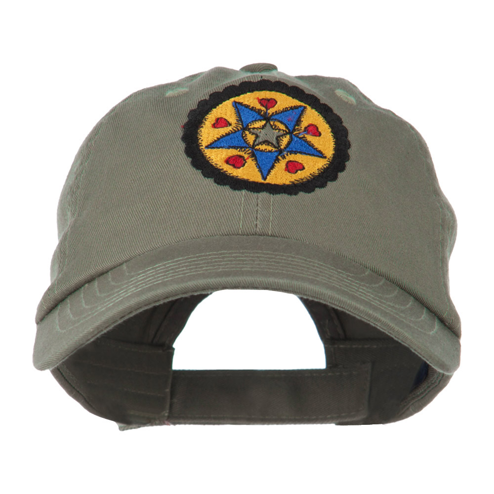 Dutch Motif Embroidered Cap - Olive - Hats and Caps Online Shop - Hip Head Gear