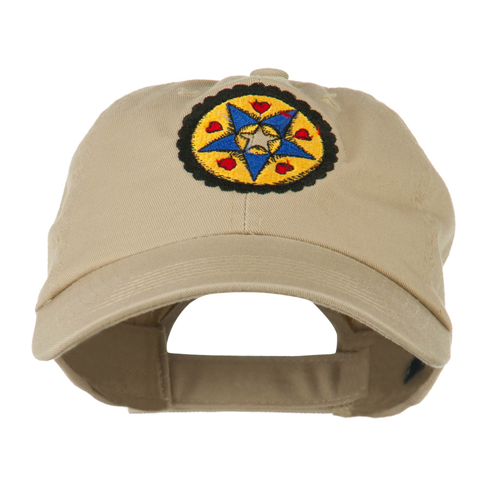 Dutch Motif Embroidered Cap - Khaki - Hats and Caps Online Shop - Hip Head Gear