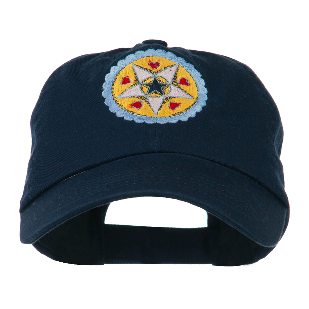 Dutch Motif Embroidered Cap - Navy - Hats and Caps Online Shop - Hip Head Gear