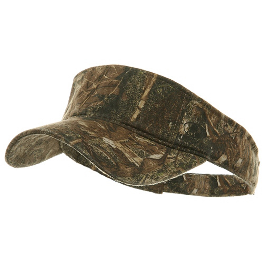 Garment Washed Camo Visor - Duck Blind - Hats and Caps Online Shop - Hip Head Gear