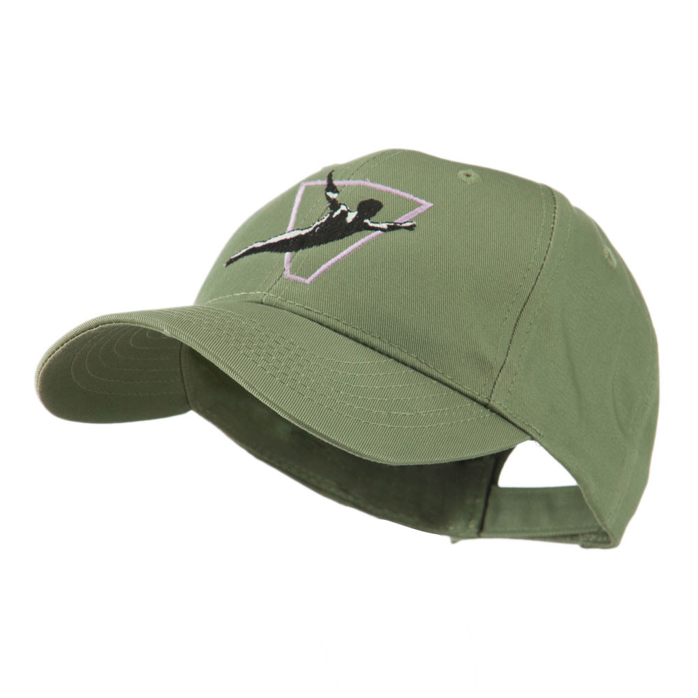 Diving Man Logo Embroidered Cap - Olive - Hats and Caps Online Shop - Hip Head Gear