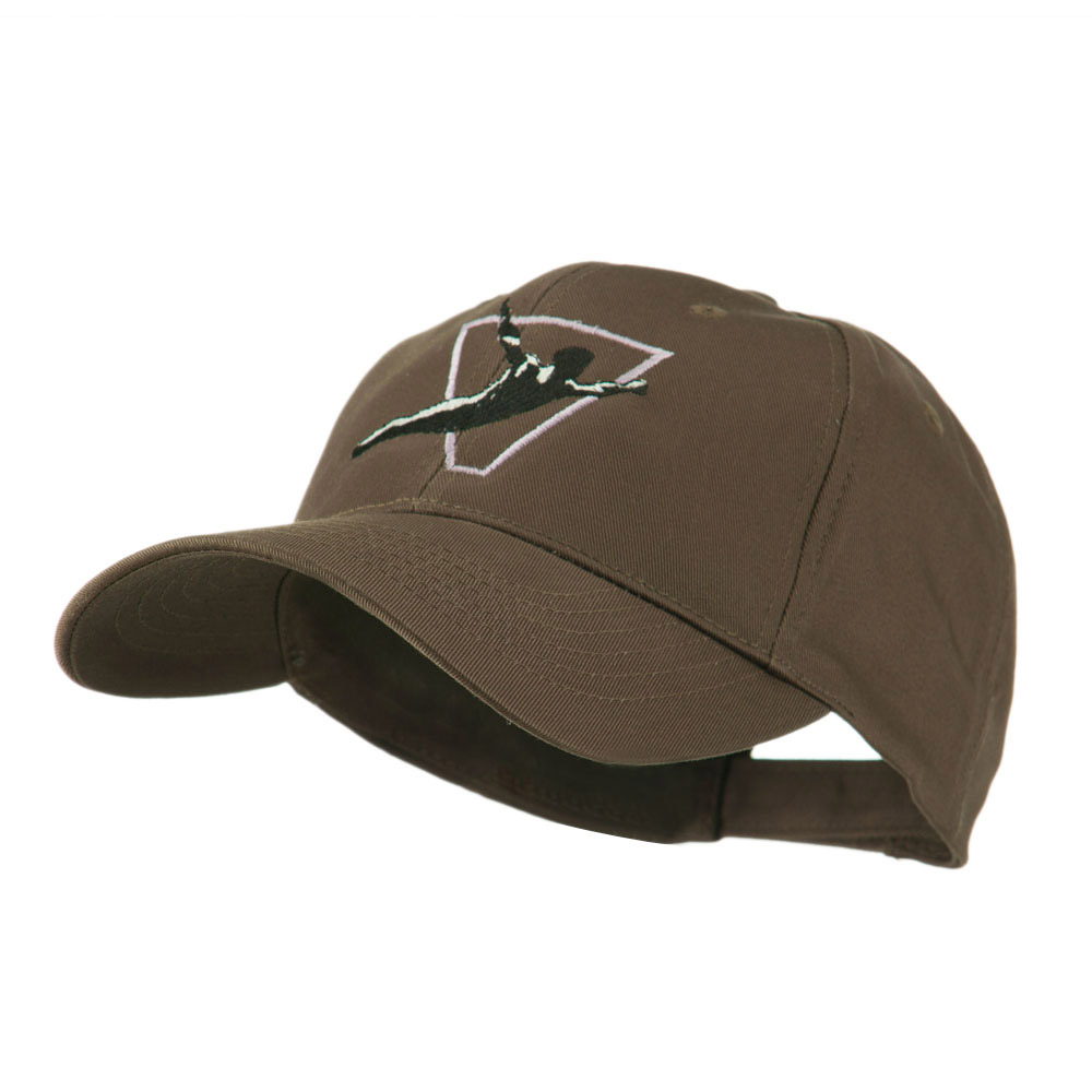 Diving Man Logo Embroidered Cap - Brown - Hats and Caps Online Shop - Hip Head Gear