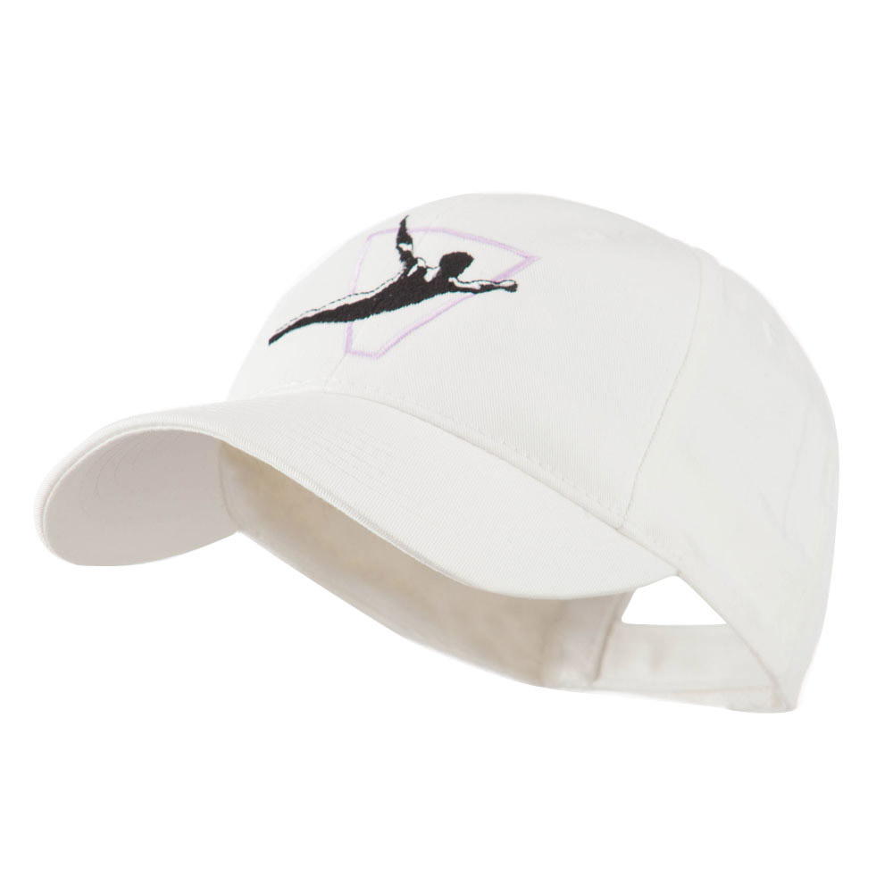 Diving Man Logo Embroidered Cap - White - Hats and Caps Online Shop - Hip Head Gear