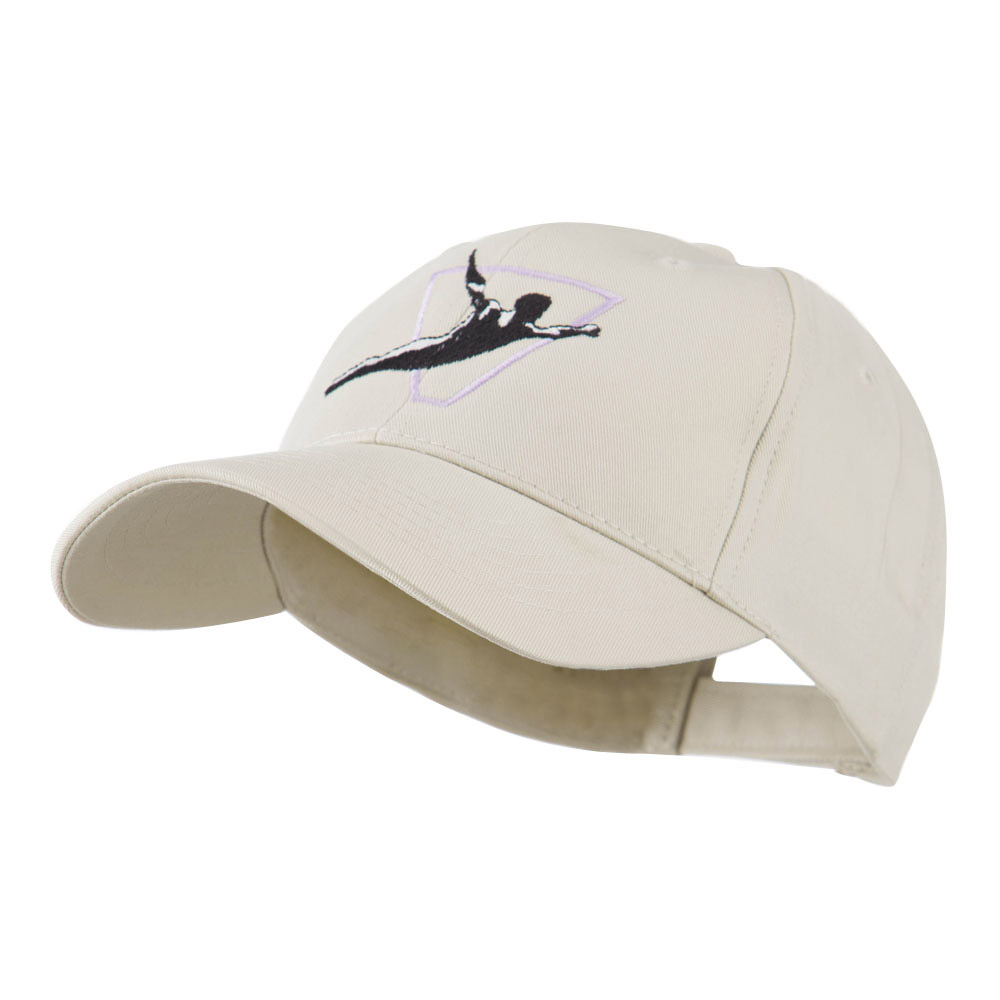 Diving Man Logo Embroidered Cap - Stone - Hats and Caps Online Shop - Hip Head Gear