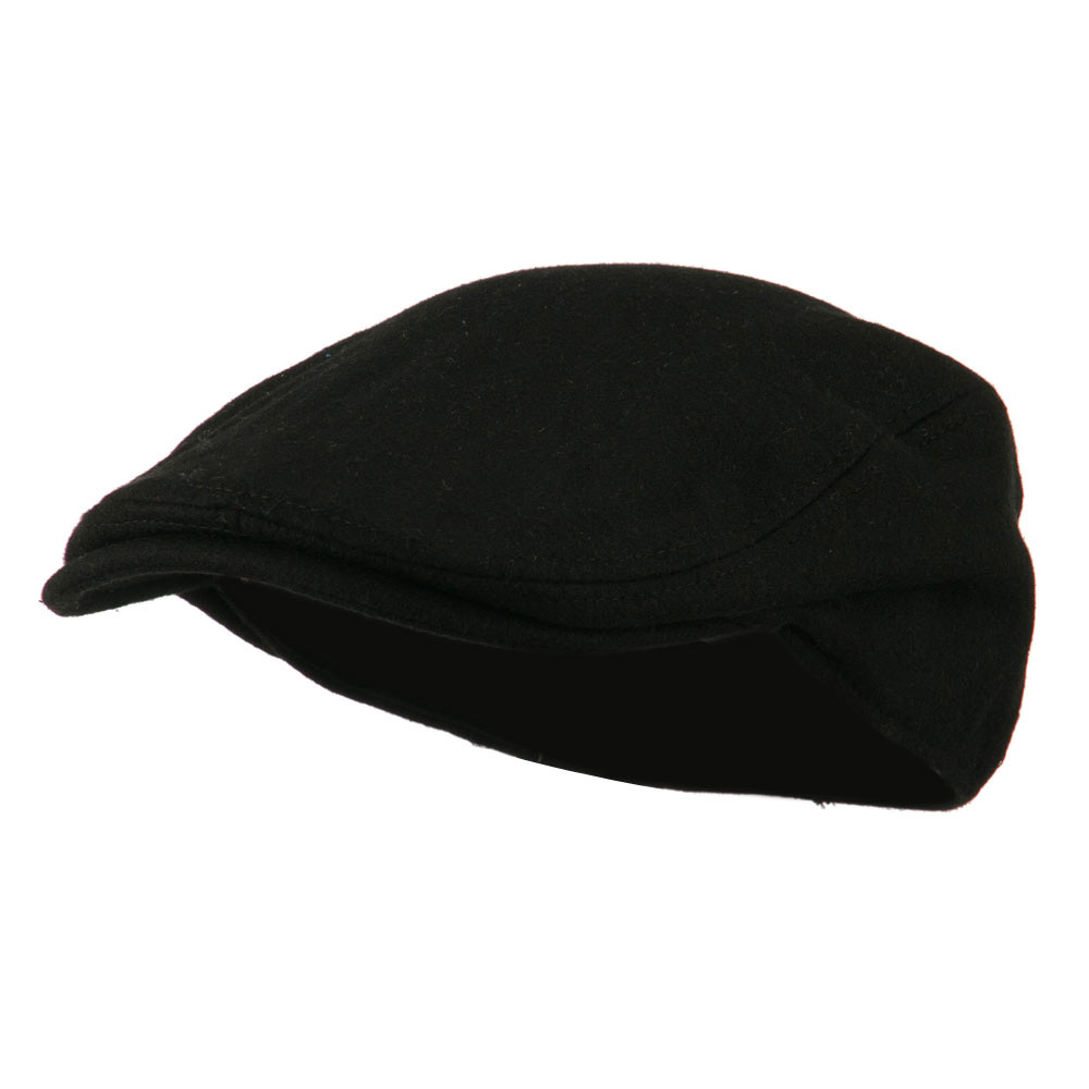 Wool Solid Driver Hat - Black - Hats and Caps Online Shop - Hip Head Gear