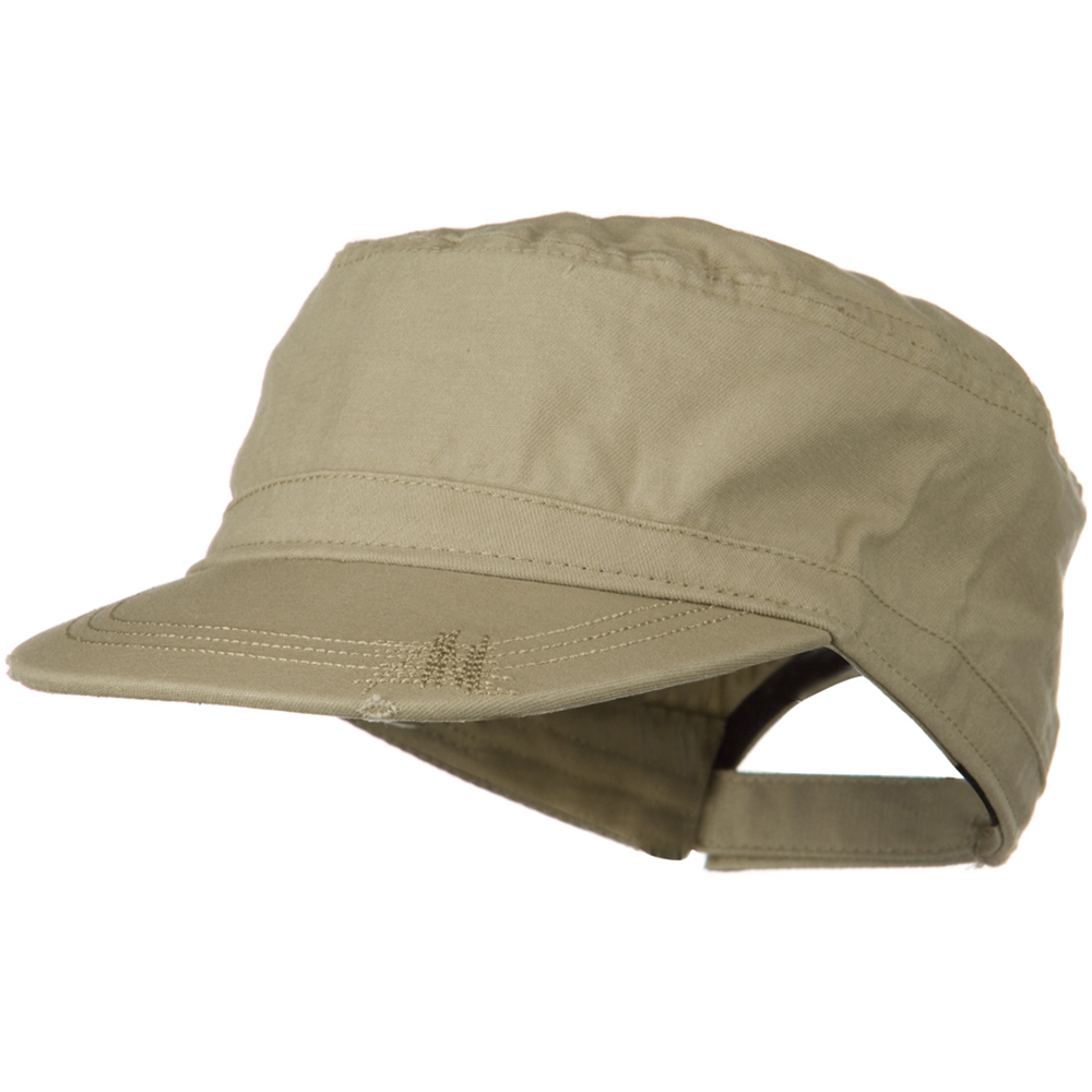 Deluxe Washed Chino Cotton Surplus Cap - Khaki - Hats and Caps Online Shop - Hip Head Gear