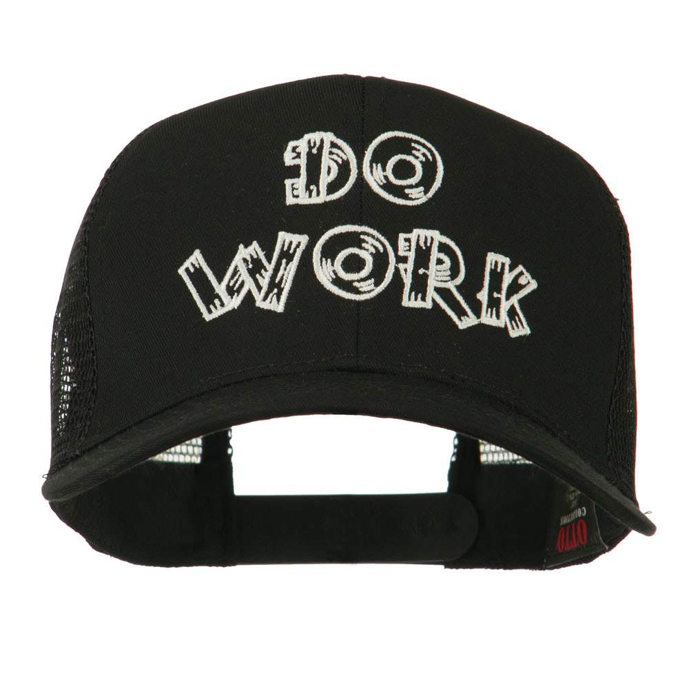 Do Work Embroidered Mesh Back Cap - Black - Hats and Caps Online Shop - Hip Head Gear