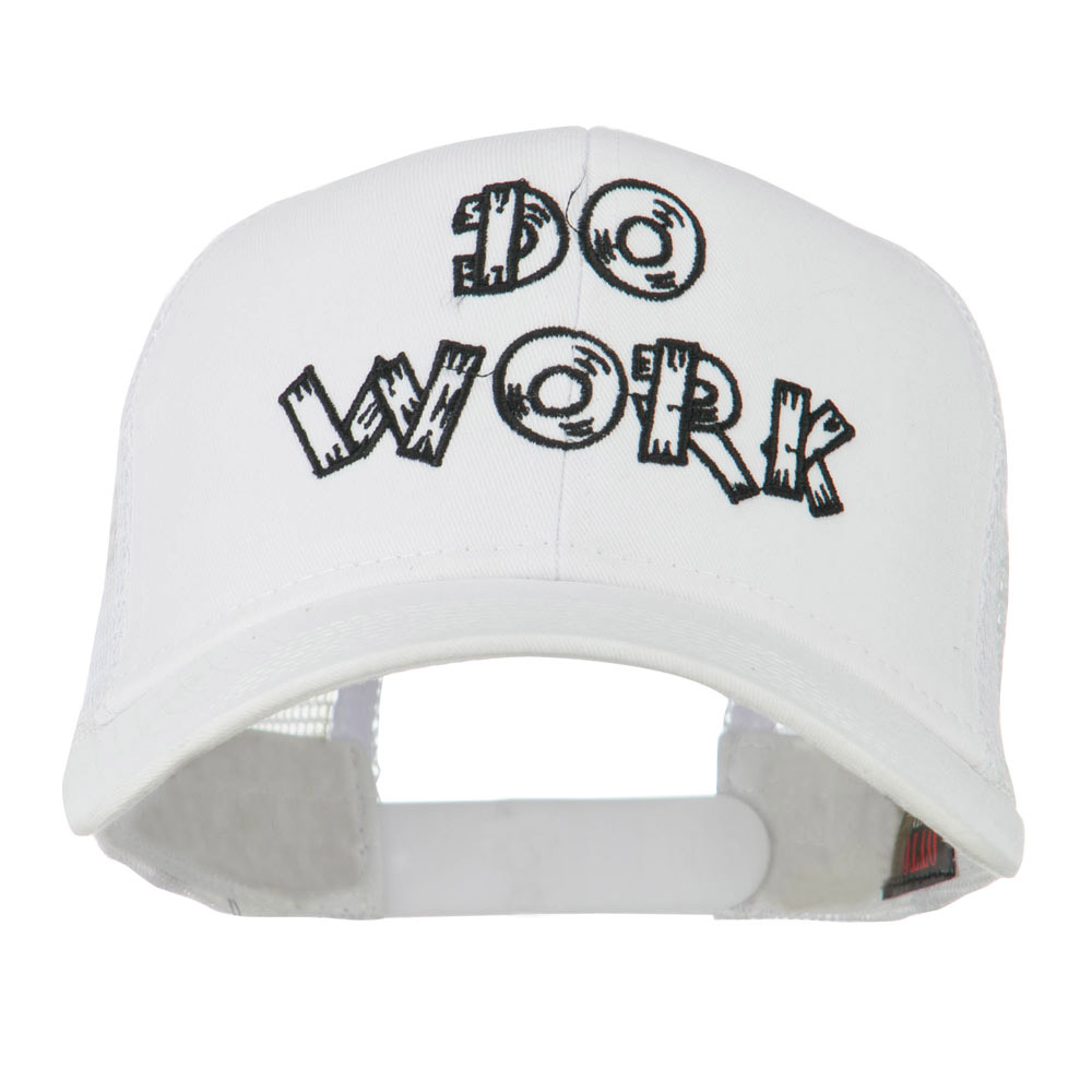 Do Work Embroidered Mesh Back Cap - White - Hats and Caps Online Shop - Hip Head Gear
