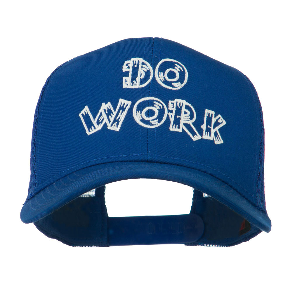Do Work Embroidered Mesh Back Cap - Royal - Hats and Caps Online Shop - Hip Head Gear