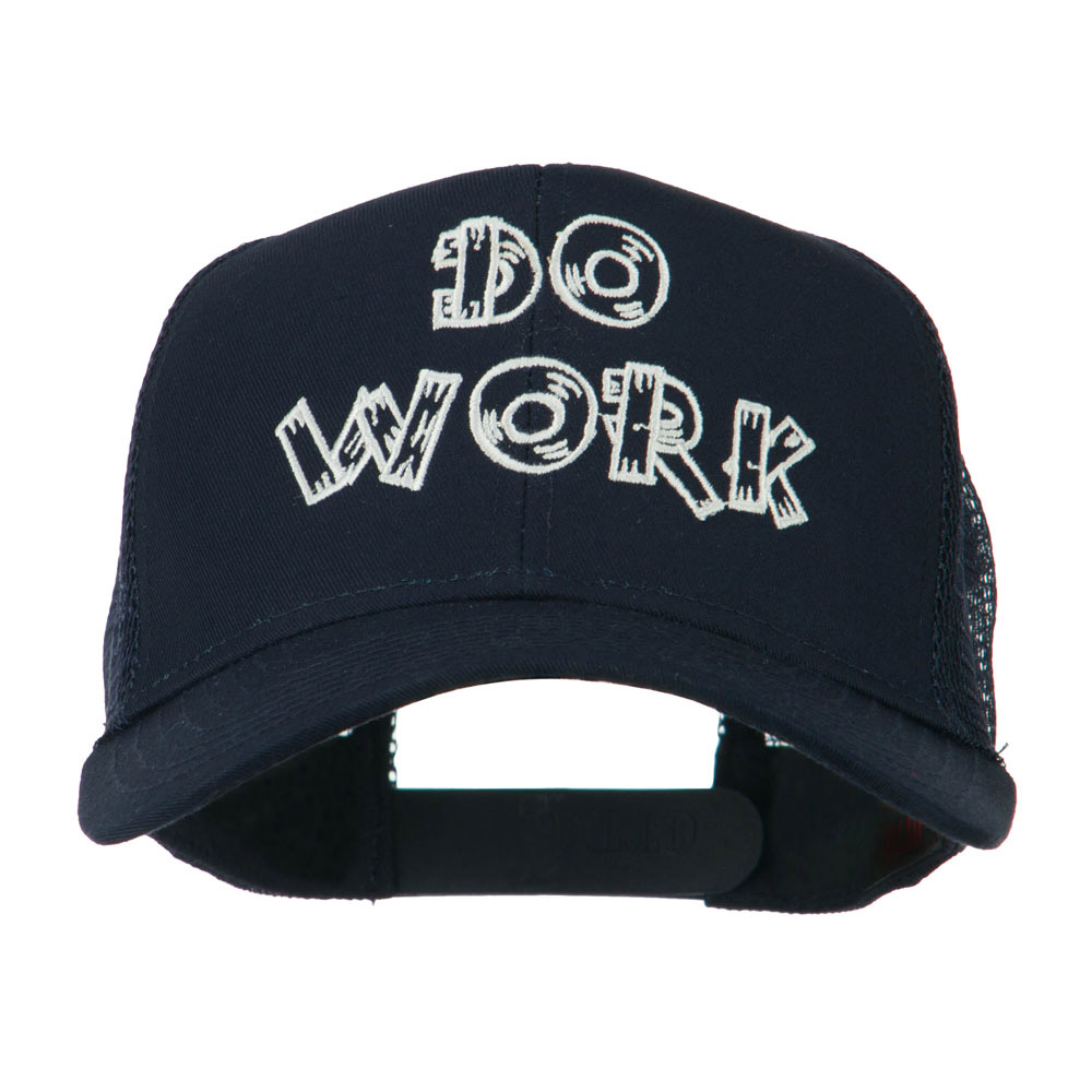 Do Work Embroidered Mesh Back Cap - Navy - Hats and Caps Online Shop - Hip Head Gear