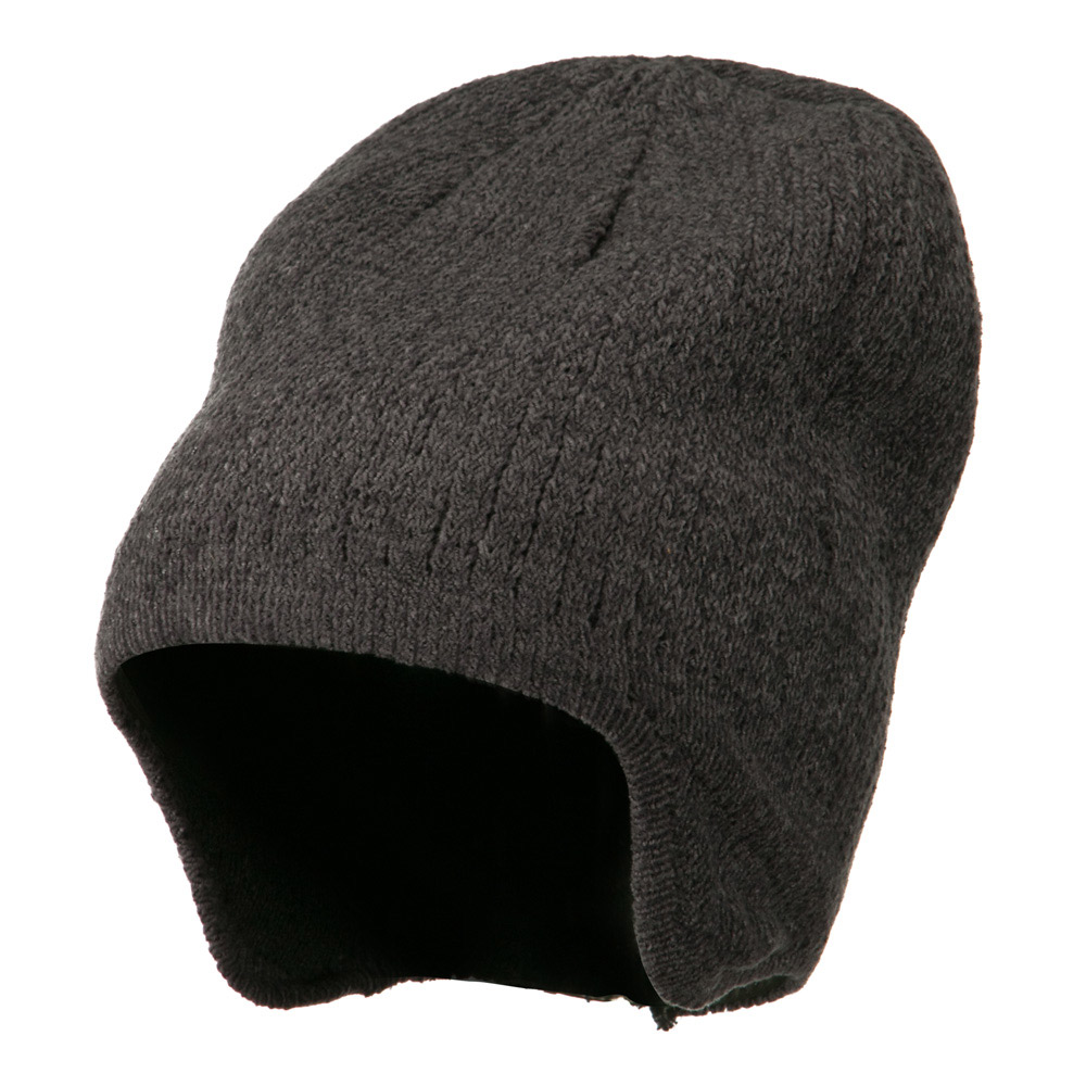 Ear Cover Chenille Short Beanie - Grey - Hats and Caps Online Shop - Hip Head Gear