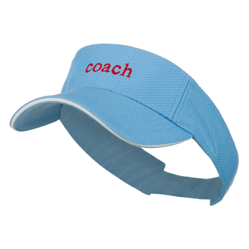 Coach Embroidered Athletic Mesh Visor - Sky