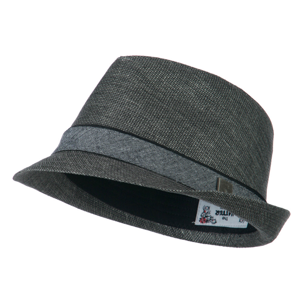 Fabric Coated fedora  - Black - Hats and Caps Online Shop - Hip Head Gear