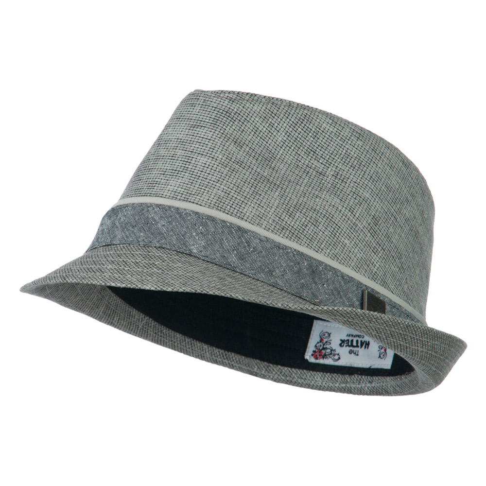 Fabric Coated fedora  - Grey - Hats and Caps Online Shop - Hip Head Gear