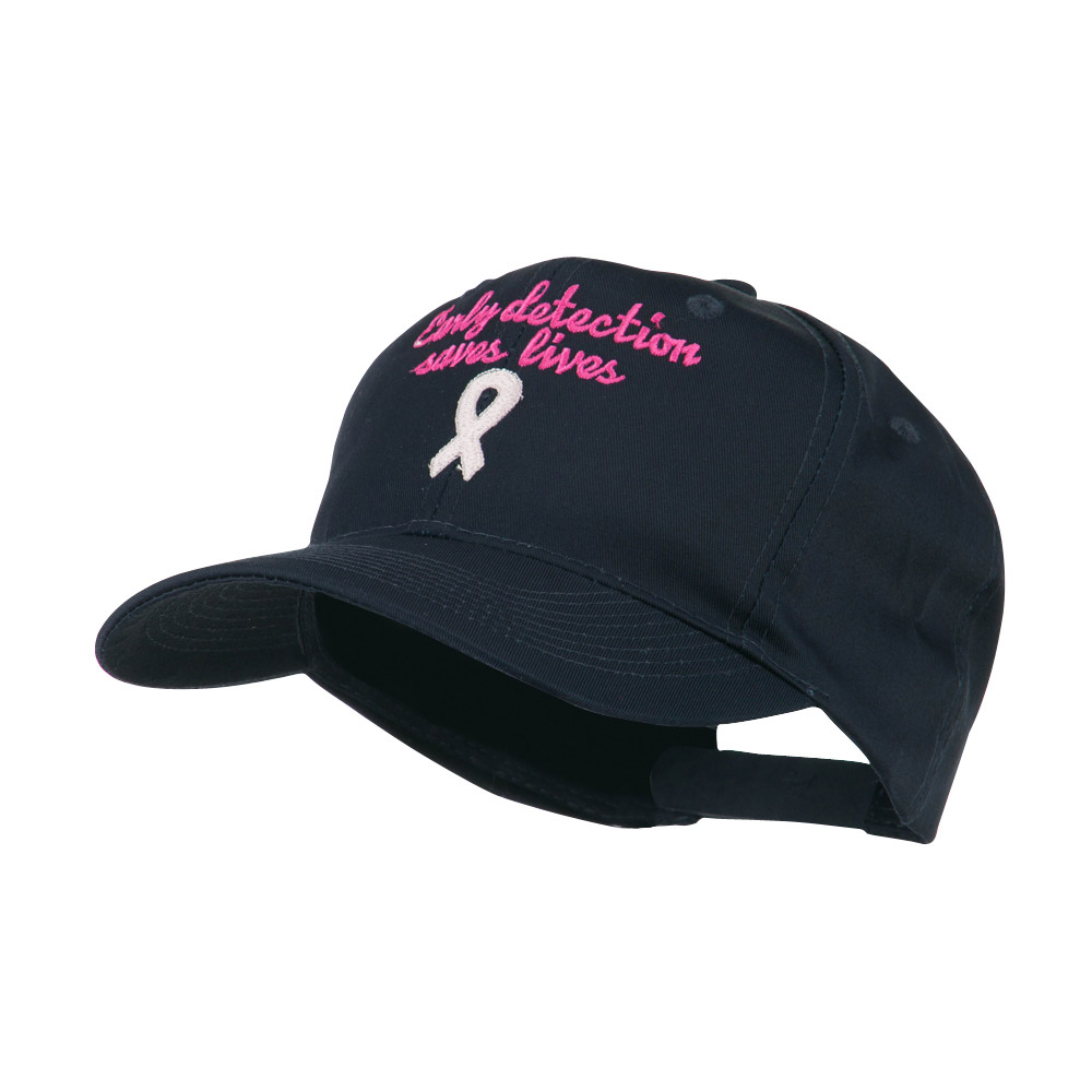 Early Detection Saves Lives Embroidered Cap - Navy - Hats and Caps Online Shop - Hip Head Gear