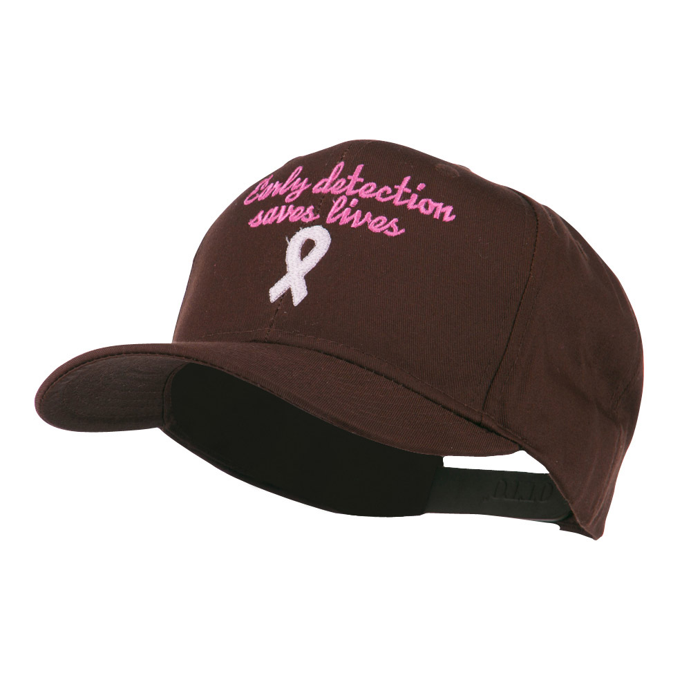 Early Detection Saves Lives Embroidered Cap - Brown - Hats and Caps Online Shop - Hip Head Gear