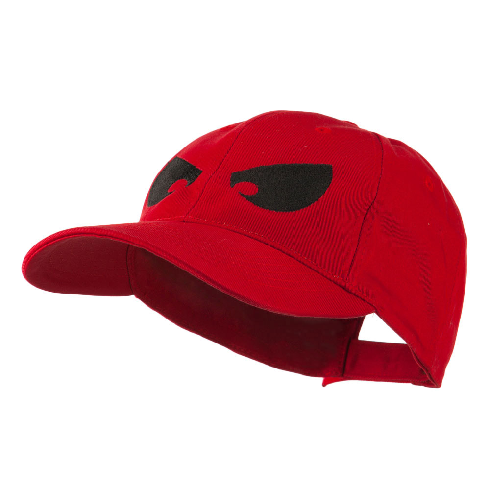 Halloween Huge Eyes Embroidered Cap - Red - Hats and Caps Online Shop - Hip Head Gear