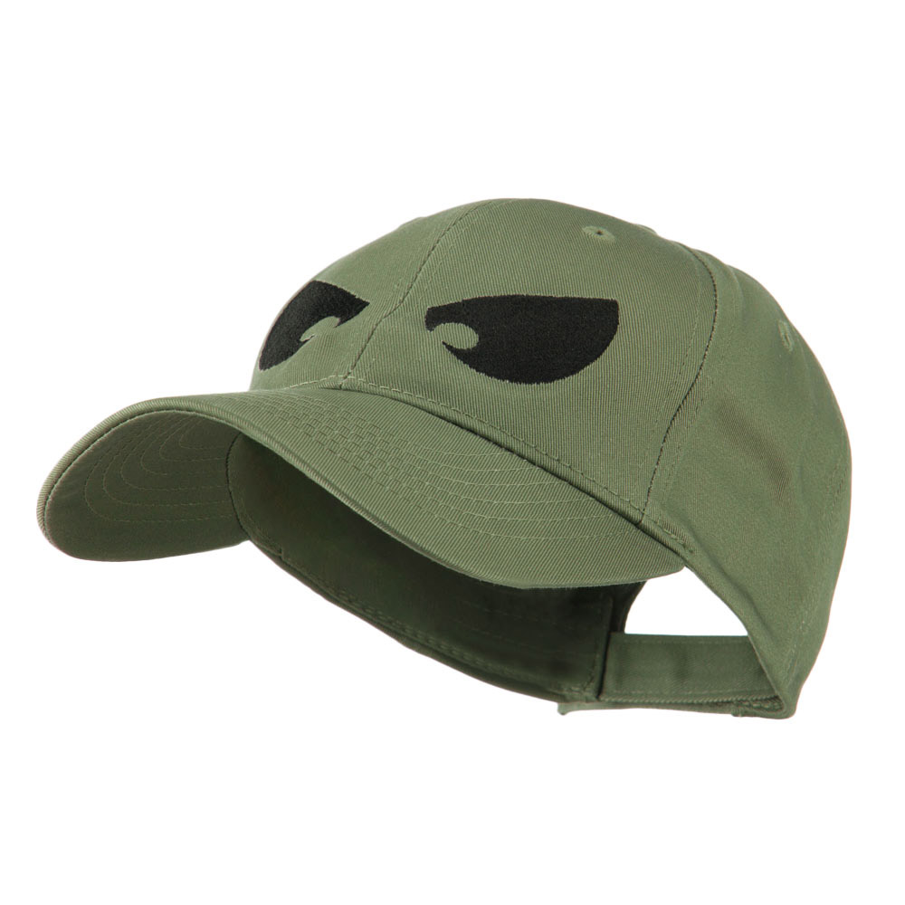 Halloween Huge Eyes Embroidered Cap - Olive - Hats and Caps Online Shop - Hip Head Gear