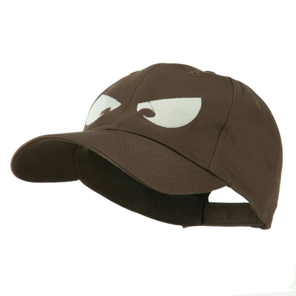 Halloween Huge Eyes Embroidered Cap - Brown - Hats and Caps Online Shop - Hip Head Gear