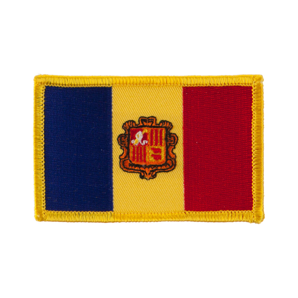 Europe Flag Embroidered Patches - Andora