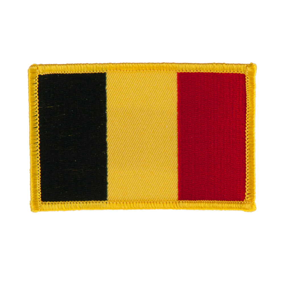 Europe Flag Embroidered Patches - Belgium