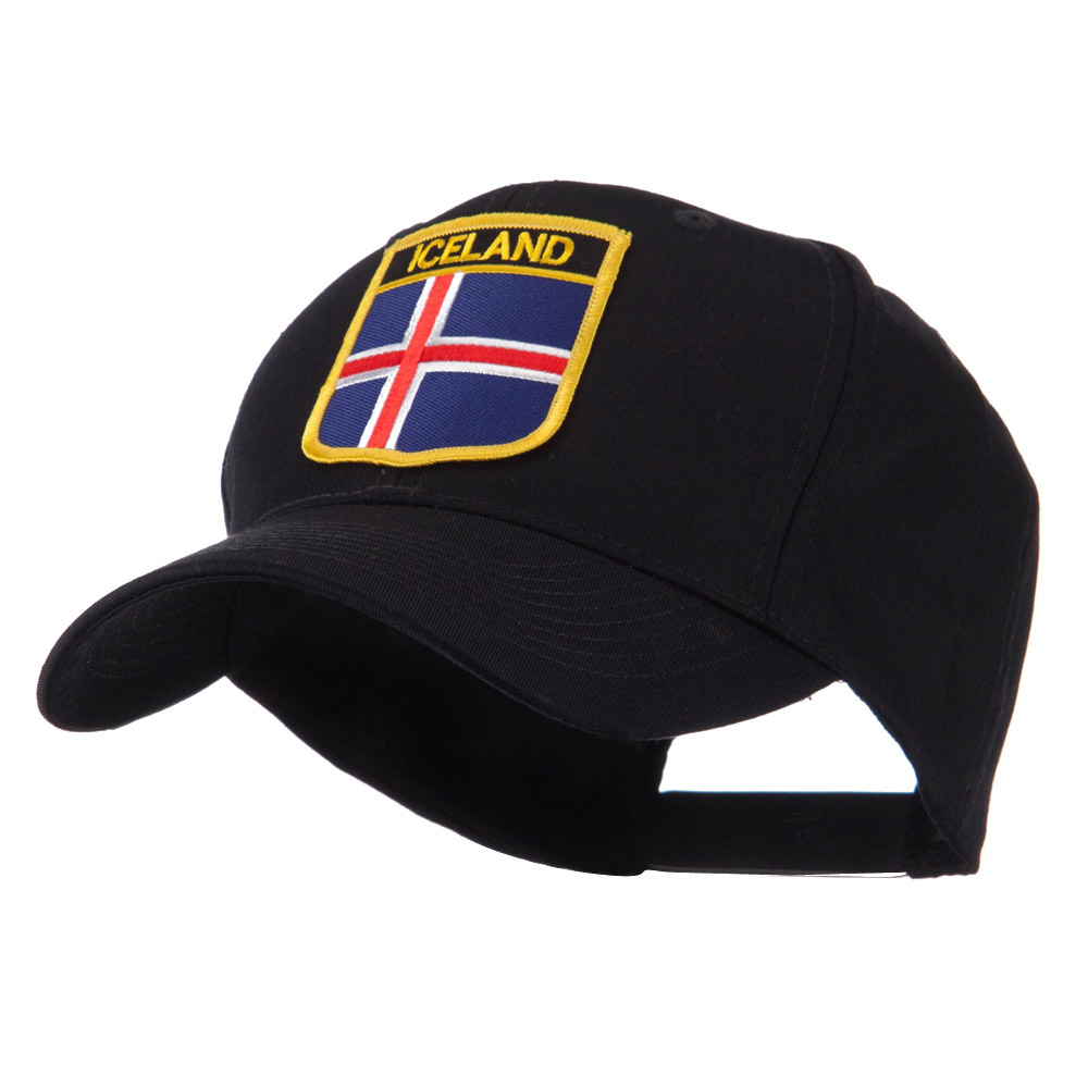 Europe Flag Shield Patch Cap - Iceland - Hats and Caps Online Shop - Hip Head Gear