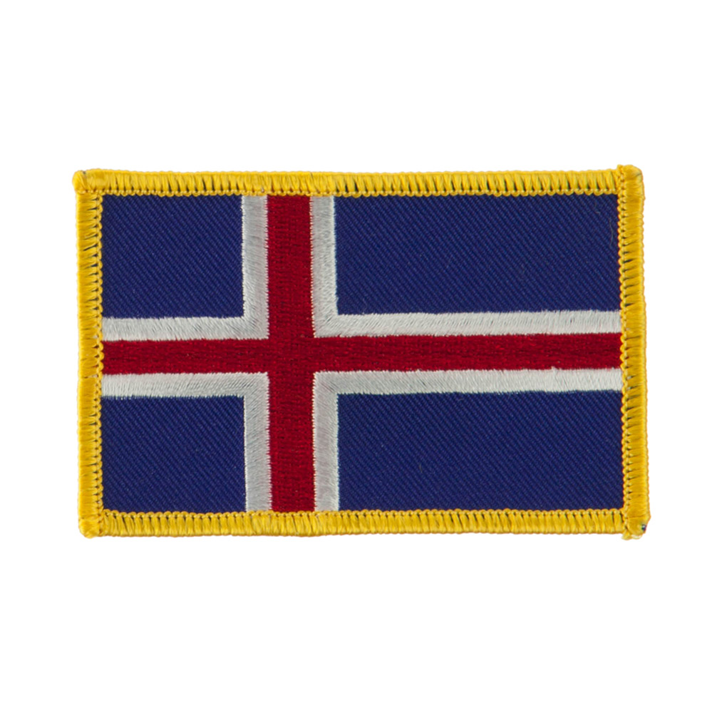 Europe Flag Embroidered Patches - Iceland