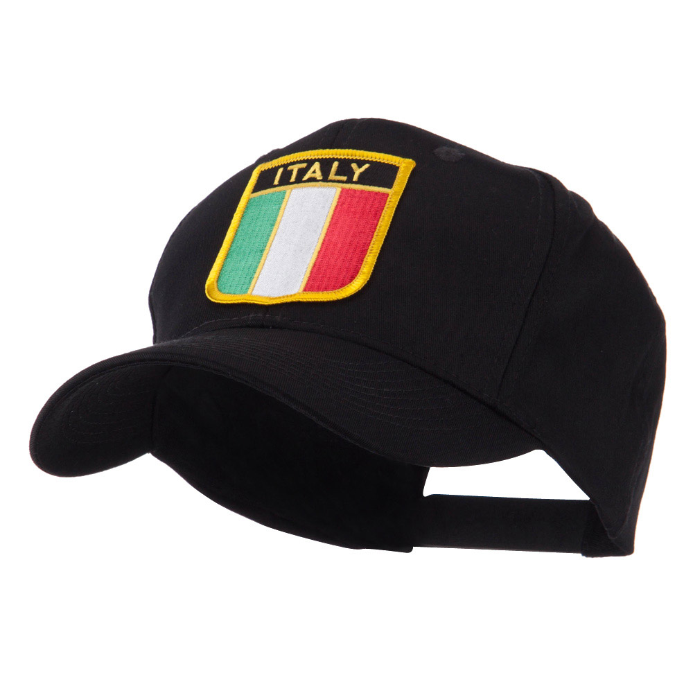 Europe Flag Shield Patch Cap - Italy - Hats and Caps Online Shop - Hip Head Gear