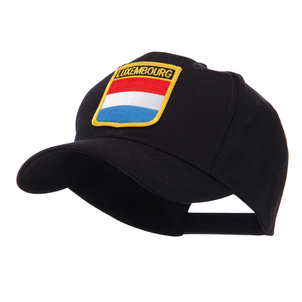Europe Flag Shield Patch Cap - Luxembourg - Hats and Caps Online Shop - Hip Head Gear