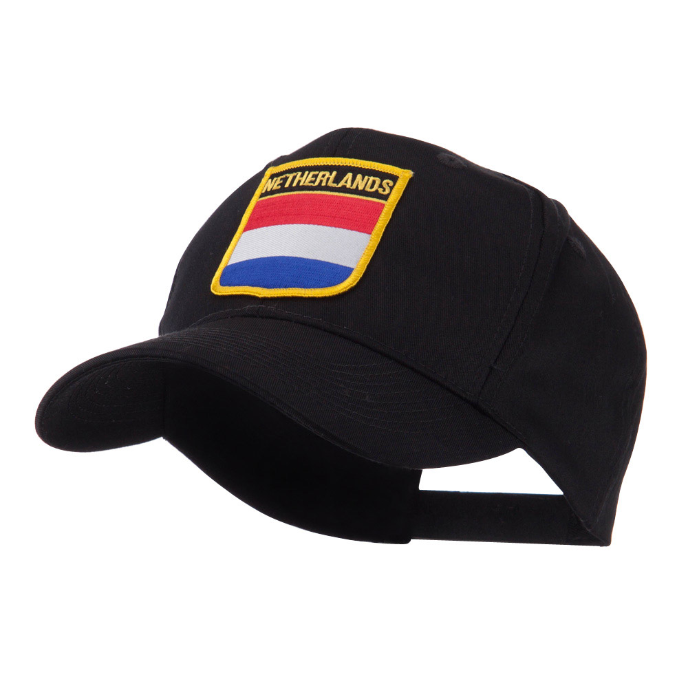 Europe Flag Shield Patch Cap - Netherlands - Hats and Caps Online Shop - Hip Head Gear
