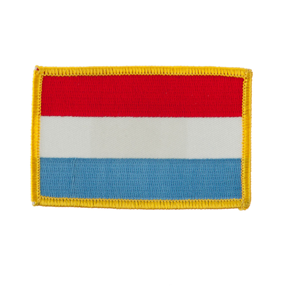Europe Flag Embroidered Patches - Luxembourg