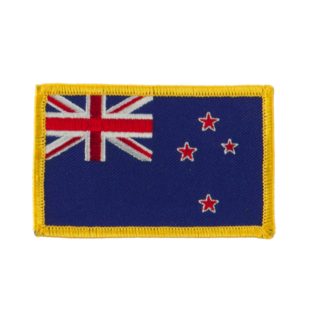 Europe Flag Embroidered Patches - New Zealand