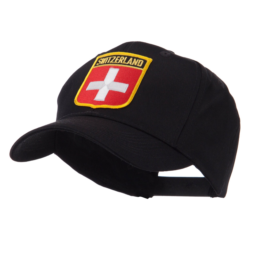 Europe Flag Shield Patch Cap - Switzerland - Hats and Caps Online Shop - Hip Head Gear