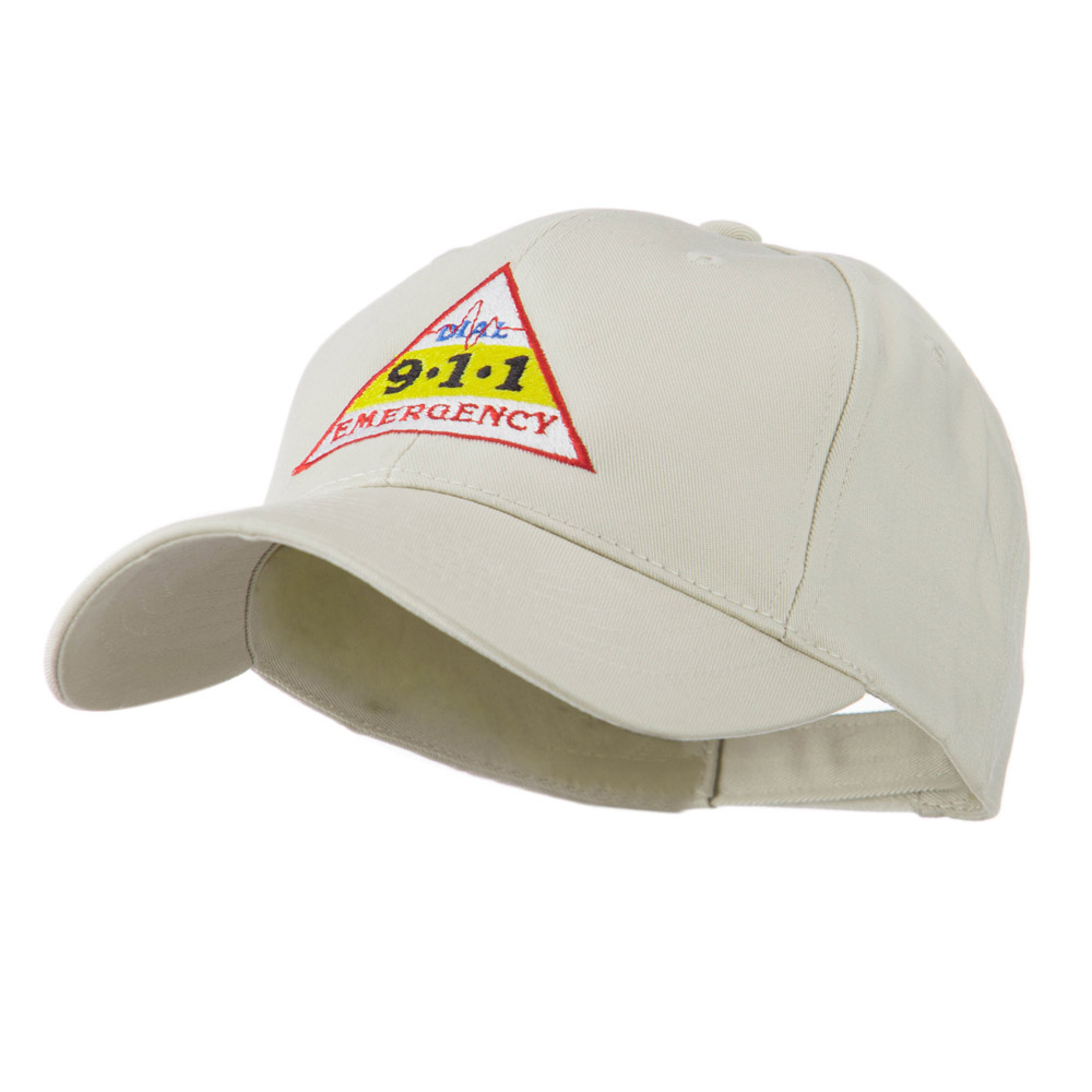 911 Emergency Logo Embroidery Cap - Stone - Hats and Caps Online Shop - Hip Head Gear