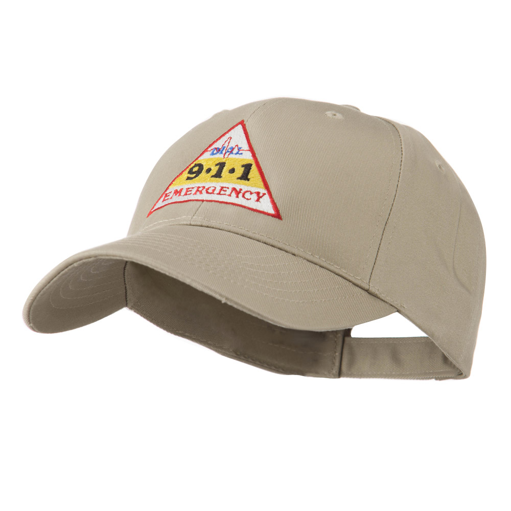 911 Emergency Logo Embroidery Cap - Khaki - Hats and Caps Online Shop - Hip Head Gear
