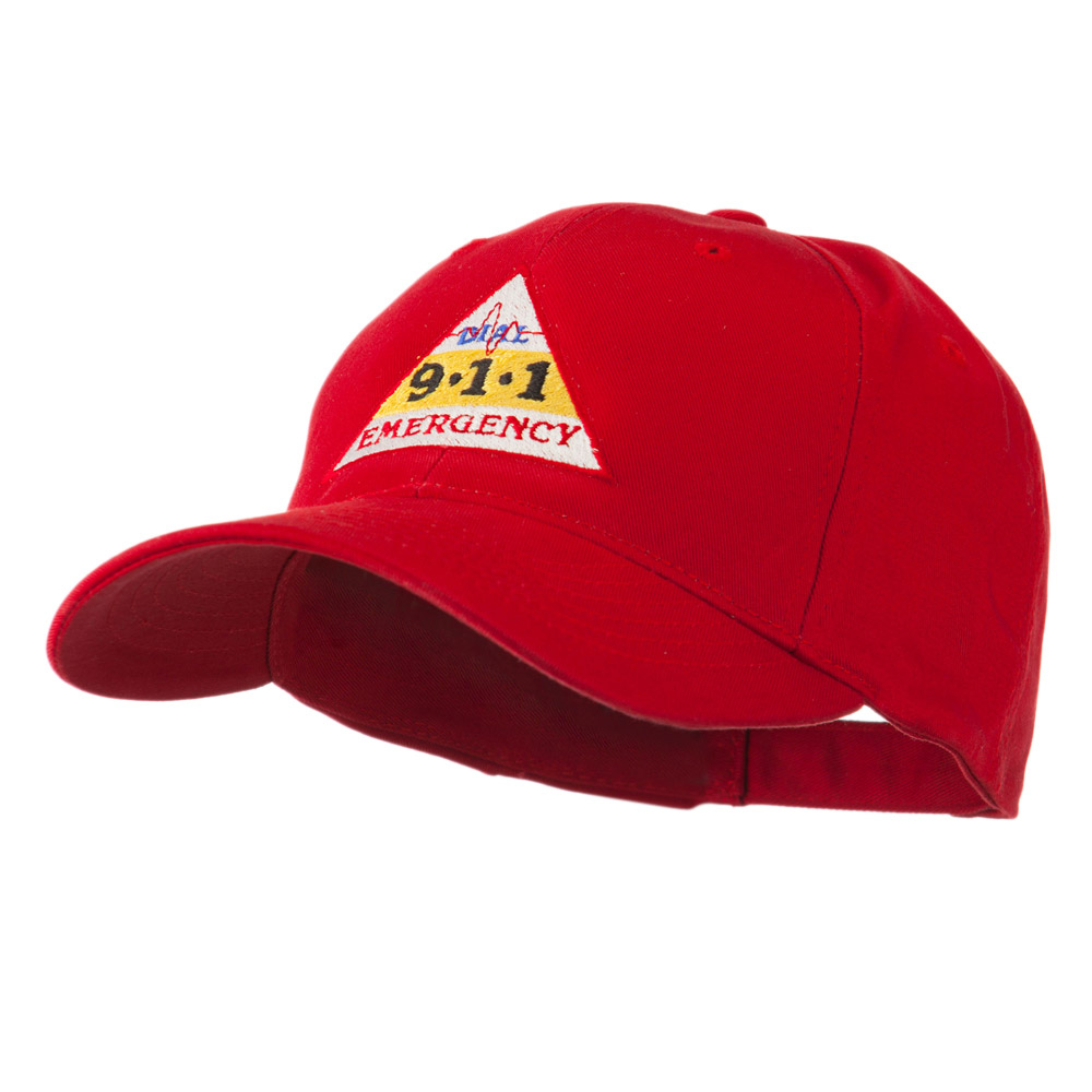 911 Emergency Logo Embroidery Cap - Red - Hats and Caps Online Shop - Hip Head Gear