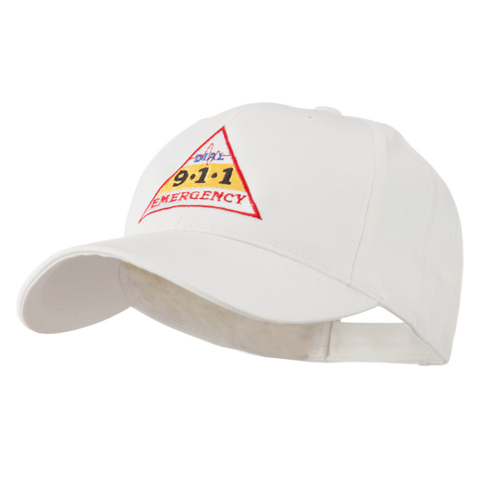 911 Emergency Logo Embroidery Cap - White - Hats and Caps Online Shop - Hip Head Gear