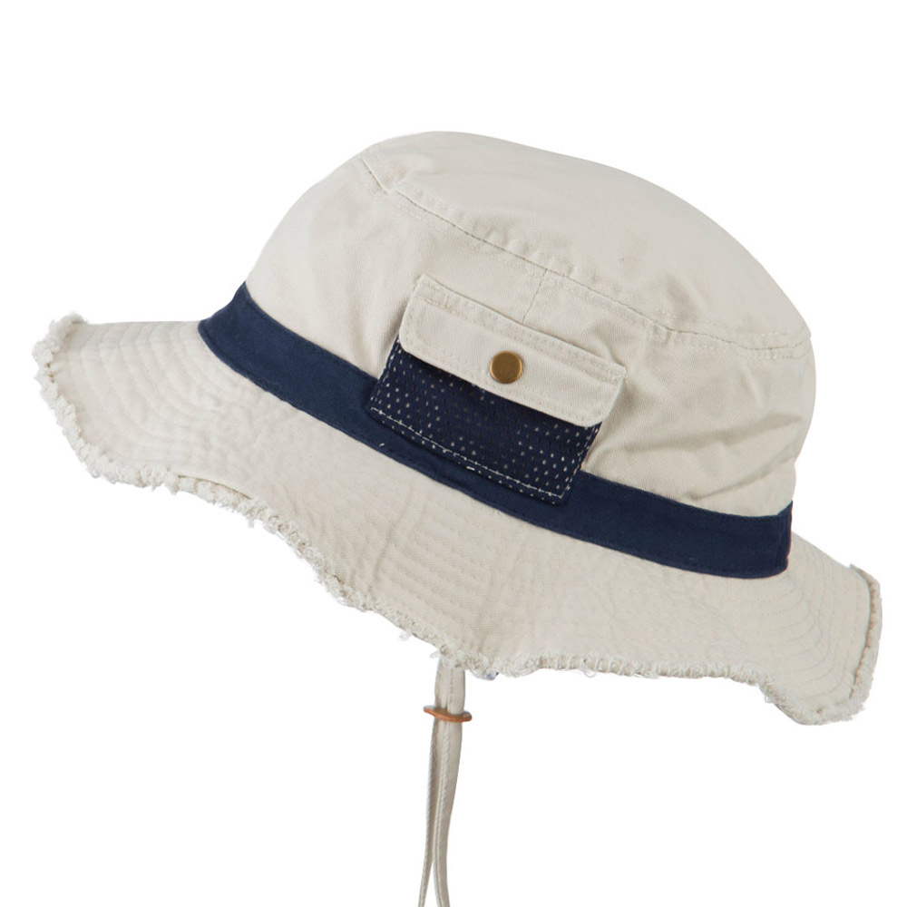Big Size Cotton Twill Washed Bucket Hat - Putty Navy - Hats and Caps Online Shop - Hip Head Gear