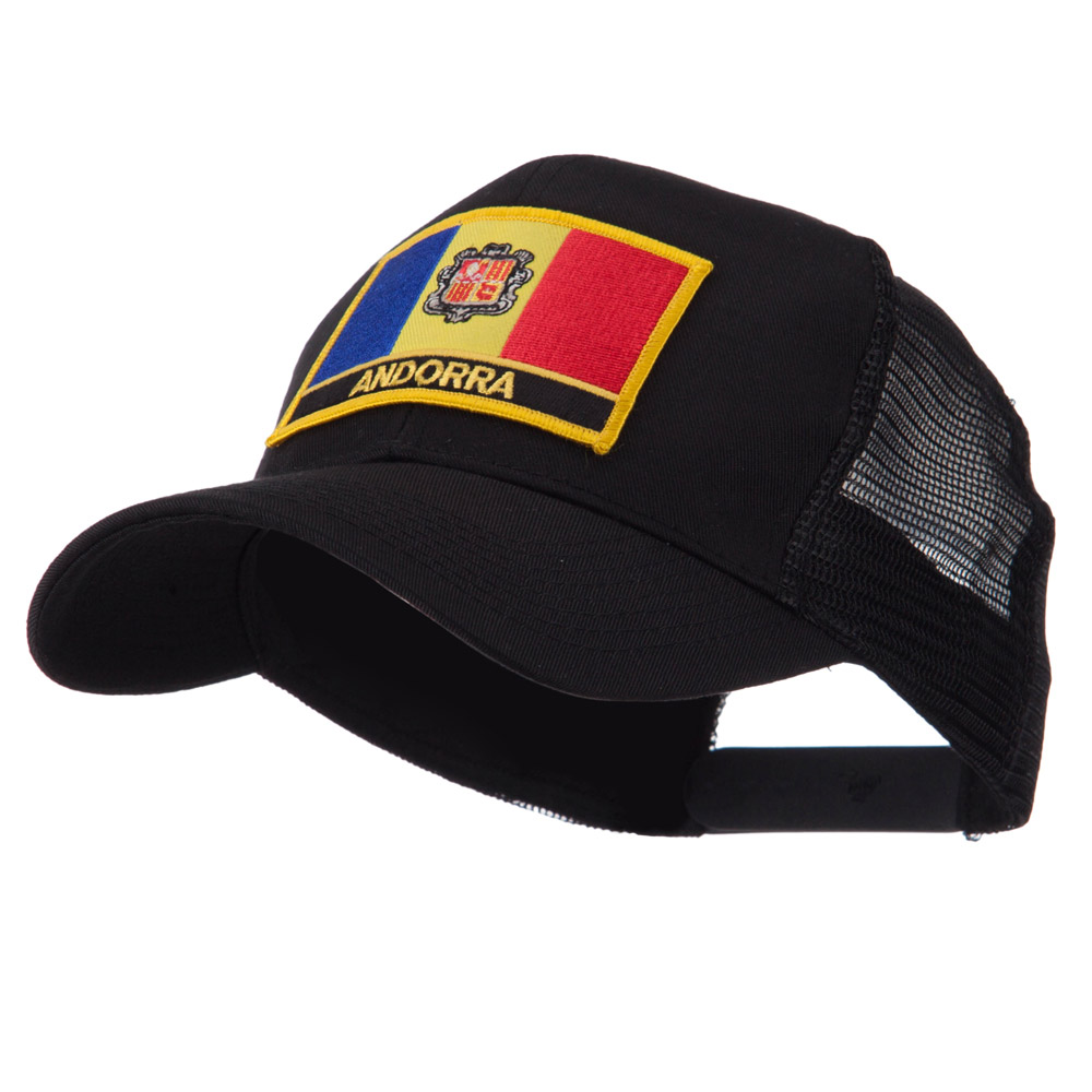 Europe Flag Letter Patched Mesh Cap - Andorra - Hats and Caps Online Shop - Hip Head Gear