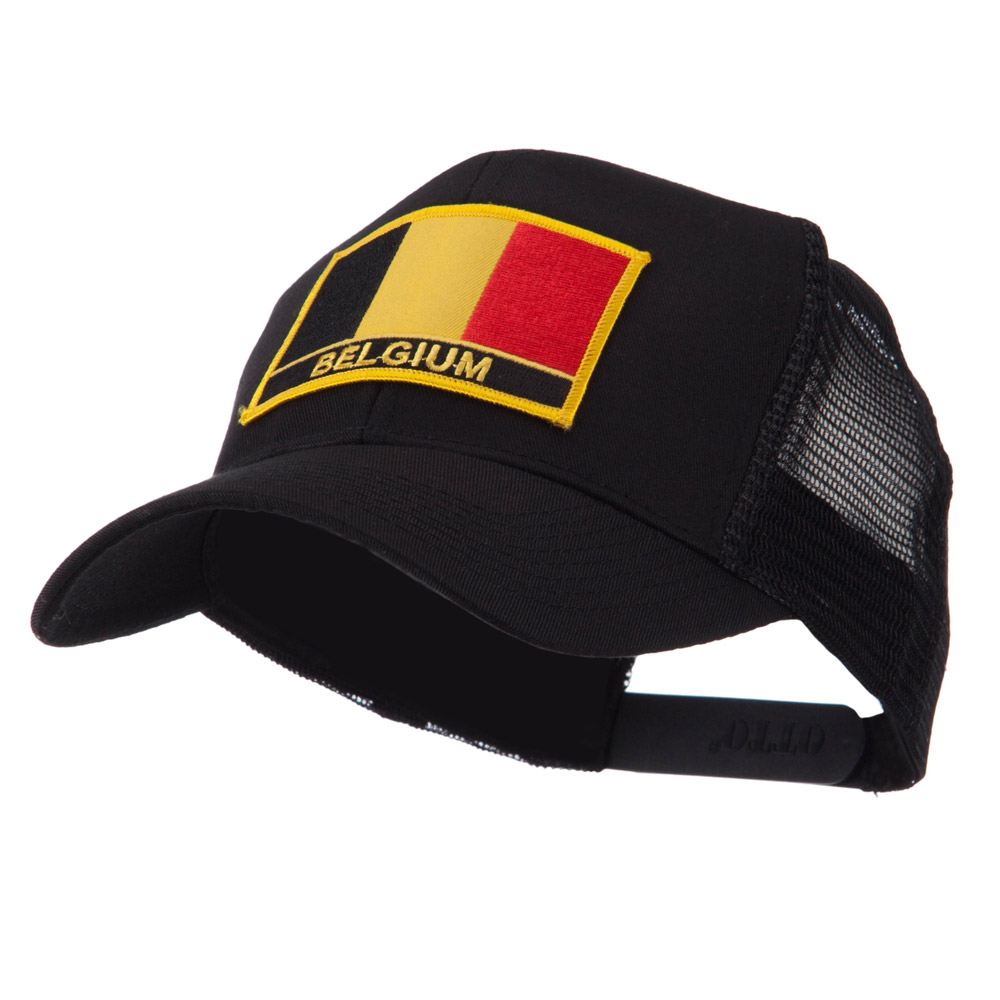 Europe Flag Letter Patched Mesh Cap - Belgium - Hats and Caps Online Shop - Hip Head Gear