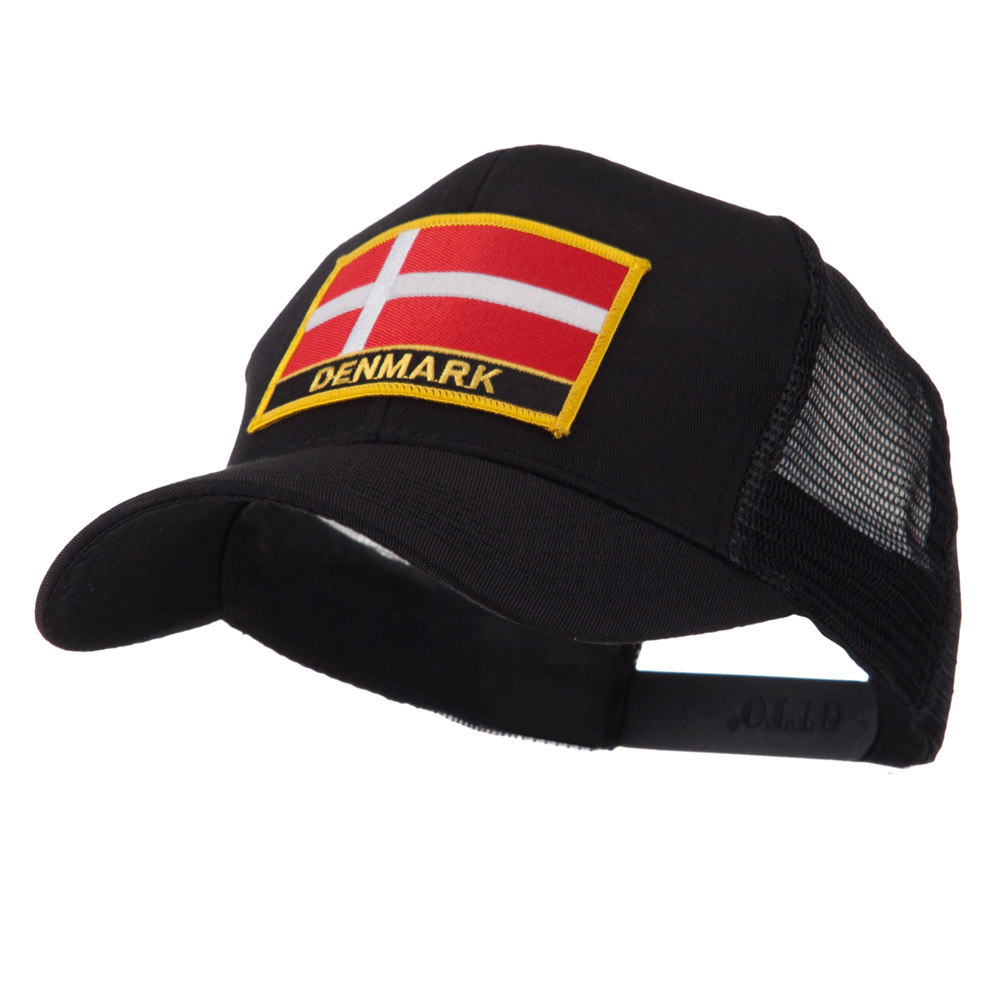 Europe Flag Letter Patched Mesh Cap - Denmark - Hats and Caps Online Shop - Hip Head Gear