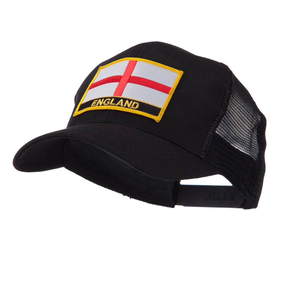 Europe Flag Letter Patched Mesh Cap - England - Hats and Caps Online Shop - Hip Head Gear
