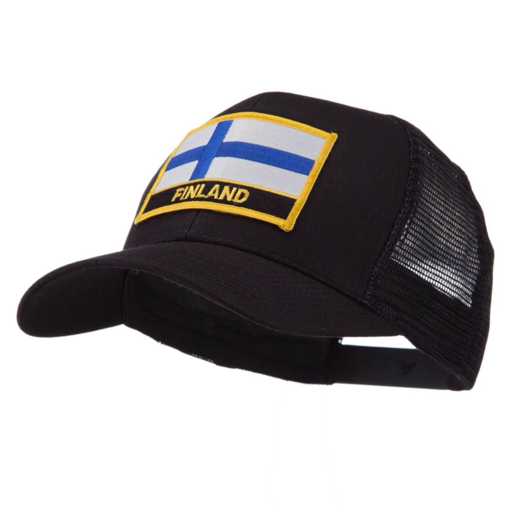 Europe Flag Letter Patched Mesh Cap - Finland - Hats and Caps Online Shop - Hip Head Gear
