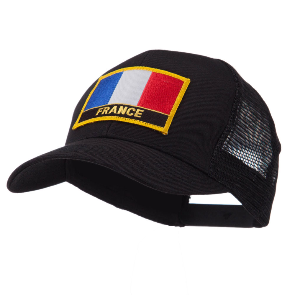 Europe Flag Letter Patched Mesh Cap - France - Hats and Caps Online Shop - Hip Head Gear