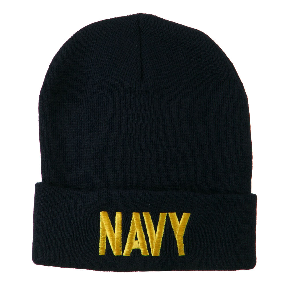 Embroidered United States Navy Military Beanie - Navy ... 7c418b0a3f20