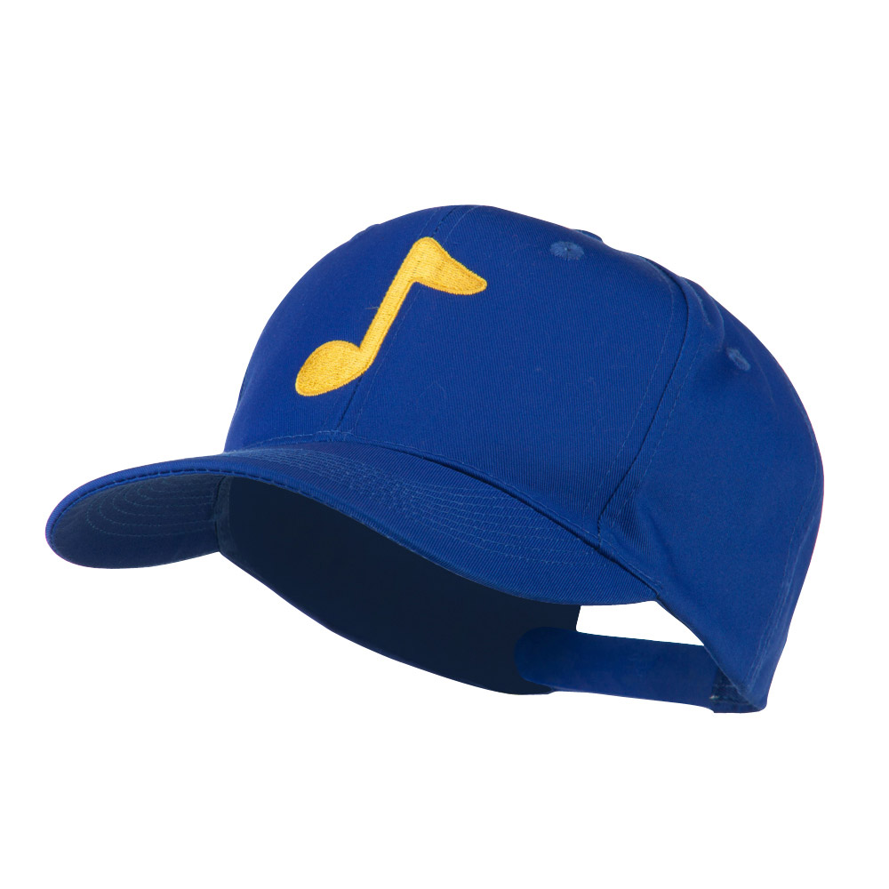 Eighth Note Music Symbol Embroidered Cap - Royal - Hats and Caps Online Shop - Hip Head Gear