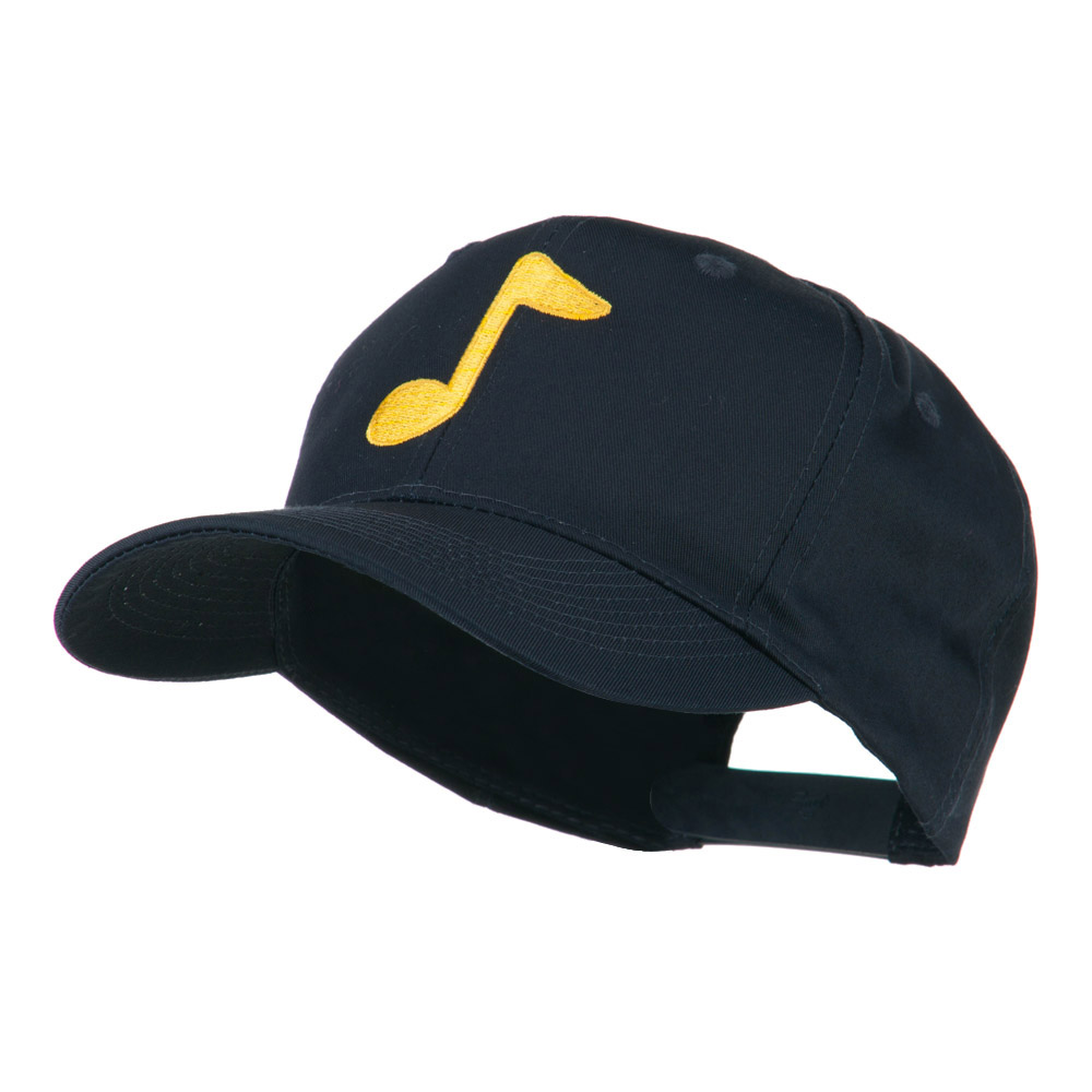 Eighth Note Music Symbol Embroidered Cap - Navy - Hats and Caps Online Shop - Hip Head Gear